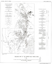 Geologic Map of the Copper Belt Mines Area