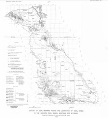 Extent of Coal-Bearing Rocks and Locations of Coal Mines in the Bighorn Coal Basin, Montana and Wyoming (1985)