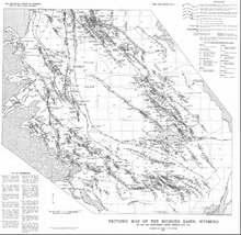 Tectonic Map of the Bighorn Basin, Wyoming
