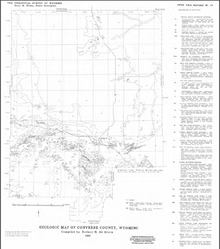 Geologic Map of Converse County, Wyoming (1985)