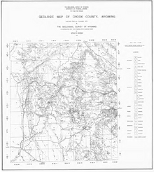 Geologic Map of Crook County, Wyoming