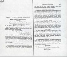 Report of Territorial Geologist