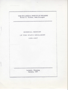 Biennial Report of the State Geologist (1955-1957)