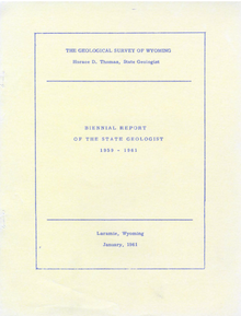 Biennial Report of the State Geologist (1959-1961)