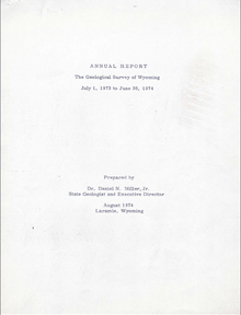 Annual Report of the Geological Survey of Wyoming (1973-1974) (1974)