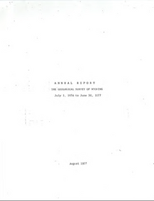 Annual Report of the Geological Survey of Wyoming (1976-1977)