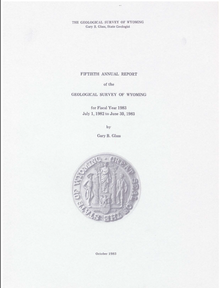Fiftieth Annual Report of the Geological Survey of Wyoming (1983)