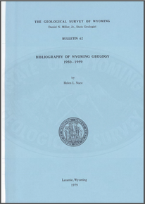 Bibliography of Wyoming Geology 1950-1959