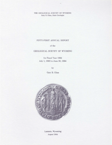 Fifty-First Annual Report of the Geological Survey of Wyoming (1984)