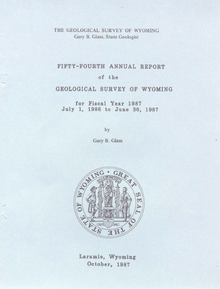 Fifty-Fourth Annual Report of the Geological Survey of Wyoming (1987)