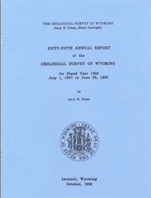 Fifty-Fifth Annual Report of the Geological Survey of Wyoming (1988)
