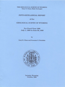 Fifty-Sixth Annual Report of the Geologocal Survey of Wyoming (1989)