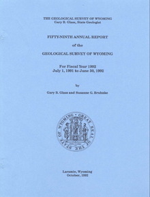 Fifty-Ninth Annual Report of the Geological Survey of Wyoming (1992)