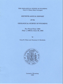 Sixtieth Annual Report of the Geological Survey of Wyoming (1993)