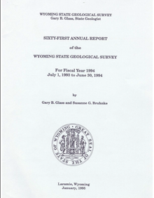 Sixty-First Annual Report of the Wyoming State Geological Survey