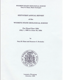 Sixty-First Annual Report of the Wyoming State Geological Survey (1994)