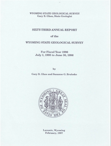 Sixty-Third Annual Report of the Wyoming State Geological Survey
