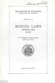 Mining Laws Federal and State (1921)
