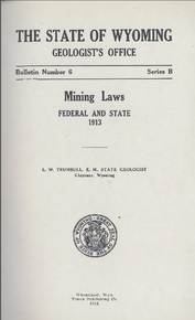 Mining Laws Federal and State (1913)