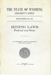 Mining Laws Federal and State (1917)