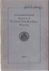 Electrometallurgical Resources of the North Platte River Basin, Wyoming
