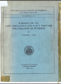 Summary of the Late Cretaceous and Early Tertiary Stratigraphy of Wyoming (1936)