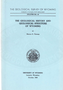 Geological History and Geological Structure of Wyoming (1949)