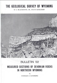 Measured Sections of Devonian Rocks in Northern Wyoming