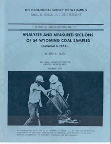 Analyses and Measured Sections of 54 Wyoming Coal Samples (collected in 1974)