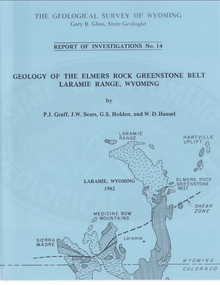 Geology of the Elmers Rock Greenstone Belt, Laramie Range, Wyoming
