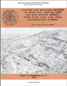 Analyses and Measured Sections of Seven Coal Samples from the Rock Springs District, Green River Basin Coal Field, Southwestern Wyoming