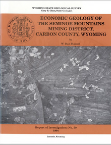 Economic Geology of the Seminoe Mountains Mining District, Carbon County, Wyoming (1994)