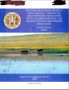 Western Resources Project Final Report: Produced Groundwater associated with Coalbed Natural Gas Production in the Powder River Basin