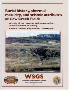 Burial History, Thermal Maturity and Seismic Attributes at Cow Creek Field: A Study of the Reservoir and Source Rocks, Washakie Basin, Wyoming