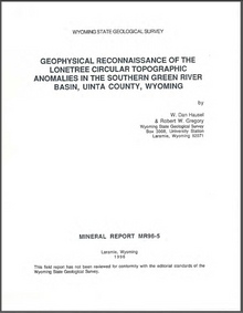 Geophysical Reconnaissance of the Lonetree Circular Topographic Anomalies in the Southern Green River Basin, Uinta County, Wyoming