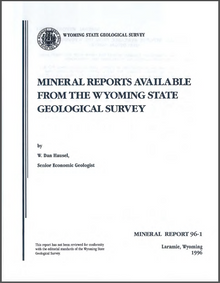 Mineral Reports Available from the Wyoming State Geological Survey