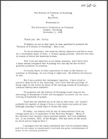 The History of Uranium in Wyoming