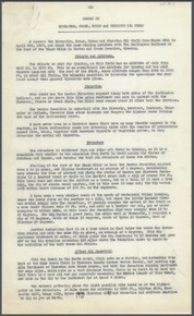 Report on Newcastle, Osage, Upton and Thornton Oil Field