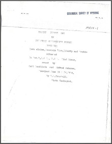 Report on Lode Claims, Mountain View, Liberty, and Orebin, Situated in Sec. 7, T. 6 N., R. 3 E., Wind River (1914)