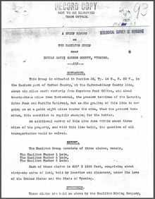 A Brief Report on the Hamilton Group near Devils Gate, Carbon County, Wyoming (1907)
