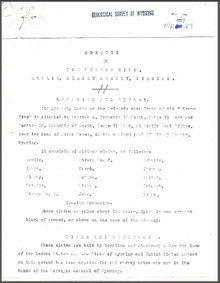 A Report on the Strong Mine, Leslie, Albany County, Wyoming