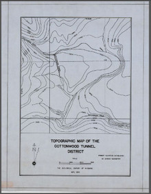 Topographic Map of the Cottonwood Tunnel District (1934)