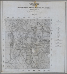 Artesian Water Map of Crook County, Wyoming