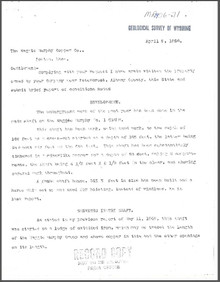 Brief Report on the Maggie Murphy Group near Esterbrook, Albany County, Wyoming (1906)