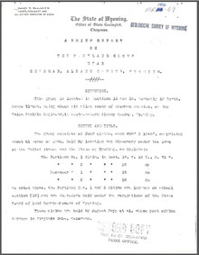 Brief Report on the Portland Group near Sherman, Albany County, Wyoming (1906)