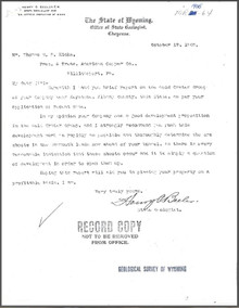 Report on the Gold Crater Group Keystone, Albany County, Wyoming