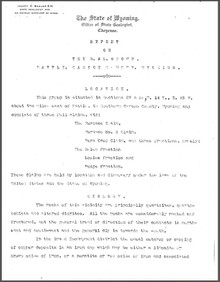 Report on the Delaware and Lackawana (D & L) Group, Battle, Carbon County, Wyoming (1905)