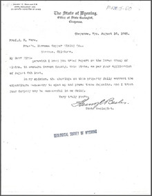 Brief Report on the Raven Group of Claims, Carbon County, Wyoming (1905)