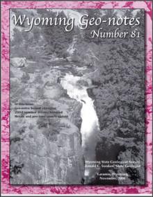 Wyoming Geo-Notes—Number 81 (2004)
