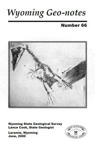 Wyoming Geo-Notes—Number 66 (2000)
